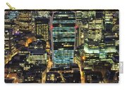 City Of London Skyline At Night Carry-all Pouch