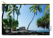 City Of Refuge - A View Of A Hawaiian Traditional House  Carry-all Pouch