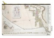 City Plan Or Map Of Pompeii Carry-all Pouch