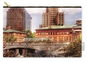 City - Providence Ri - The Skyline Carry-all Pouch by Mike Savad