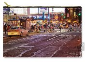 City Scene - Crossing The Street - The Lights Of New York Carry-all Pouch