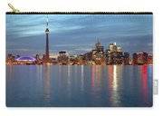 City Skyline At Dusk From Centre Carry-all Pouch