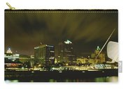 City Skyline With Milwaukee Art Museum Carry-all Pouch