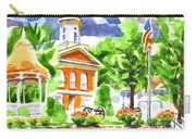 City Square In Watercolor Carry-all Pouch