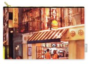 City - Vegas - Ny - Broadway Burger Carry-all Pouch by Mike Savad