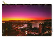 City - Vegas - Ny - Sunrise Over The City Carry-all Pouch by Mike Savad