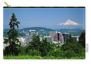 City With Mt. Hood In The Background Carry-all Pouch