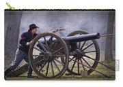 Civil War Reenactor Firing A Revolver Carry-all Pouch