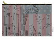 Civil War Revolver American Flag Carry-all Pouch