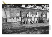 Civil War Wall Of Tombstones Savannah Georgia Carry-all Pouch