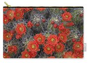 Claret Cup Cactus Flowers Detail Carry-all Pouch
