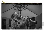 Clarinet Player In New Orleans Carry-all Pouch by David Morefield