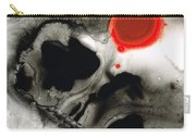 Clarity - Black And White Art Red Painting Carry-all Pouch