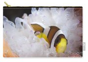 Clarks Anemonefish In White Anemone Carry-all Pouch