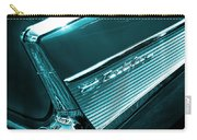 Classic '57 Teal And Chrome Carry-all Pouch