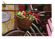 Classic Bicycle With Tulips Carry-all Pouch