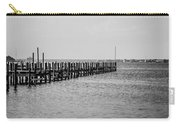 Classic Black And White Pier Scene Carry-all Pouch