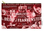 Classic Bride Of Frankenstein Poster Carry-all Pouch