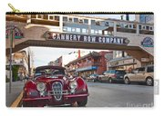 Classic Cannery Row - Monterey California With A Vintage Red Car. Carry-all Pouch