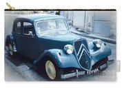 Classic Citroen In Blue Carry-all Pouch