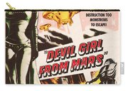 Classic Devil Girl From Mars Poster Carry-all Pouch