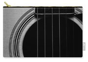 Classic Guitar In Black And White Carry-all Pouch