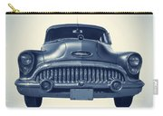 Classic Old Car On Vintage Background Carry-all Pouch