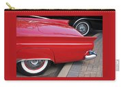 Classic Red And Black Carry-all Pouch