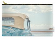 Classic Vintage Morris Minor 1000 Convertible At The Beach Carry-all Pouch