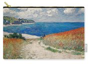 Claude Monet's Path In The Wheat Fields At Pourville-1882 Carry-all Pouch