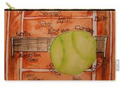 Clay Courters Carry-all Pouch by Elaine Duras