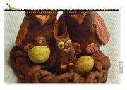 Clay Owl Family Carry-all Pouch