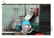Clean Pots And Pans On Outdoor Sink Carry-all Pouch