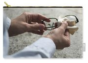 Cleaning Her Eyeglasses Carry-all Pouch