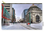 Clearing The Way...downtown Buffalo Ny 2014 Carry-all Pouch
