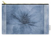 Clematis Cyanotype Carry-all Pouch