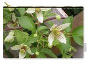 Clematis Grace Carry-all Pouch