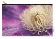Clematis-macro Photograph Of A Purple Clematis Carry-all Pouch