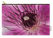 Clematis Up Close Carry-all Pouch