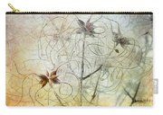 Clematis Virginiana Seed Head Textures Carry-all Pouch