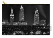 Cleveland Black And White Night Carry-all Pouch