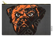 Cleveland Browns Football Team Retro Logo Ohio License Plate Art Carry-all Pouch