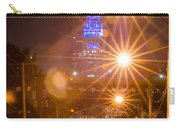 Cleveland Downtown Street View At Night Carry-all Pouch