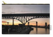 Cleveland Ohio Flats At Sunset Carry-all Pouch
