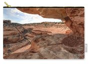 Cliff Overhang In Southwest Sandstone Canyon - Utah Carry-all Pouch by Gary Whitton