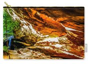 Cliff Rocks And Waterfall Carry-all Pouch