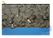 Cliff Swallows At Nests Carry-all Pouch