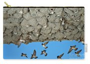 Cliff Swallows Returning To Nests Carry-all Pouch