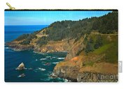 Cliffs At Cape Foulweather Carry-all Pouch by Adam Jewell