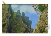 Cliffside Sea Thrift Carry-all Pouch by Jeff Kolker